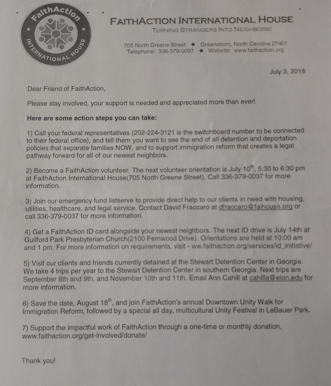 FA letter